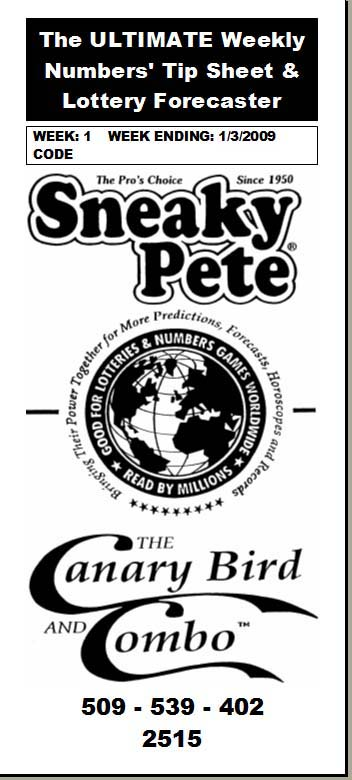 Sneaky Pete's Canary Bird Weekly